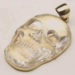 Charles Albert Alchemia Gold Skull Necklace